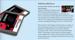 Kingston unleashed new Enterprise SSD solution, the SSDNow E50 Drive