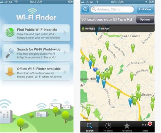 wi-fi finder screenshot