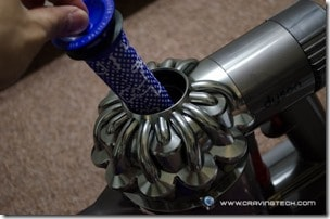 taking out Dyson DC59 filter