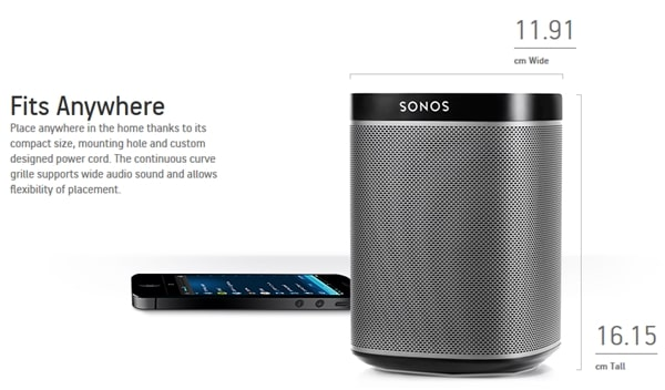 Sonos Speaker System Goes Mini With PLAY1