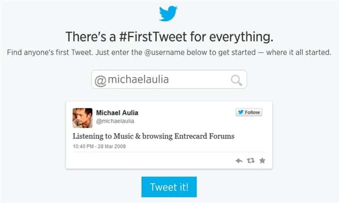 Check First Tweet