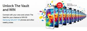 Win 50 Samsung GALAXY S5 from Samsung & Vodafone Australia. Yes, the whole lot!