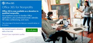free Microsoft Office 365 for nonprofit