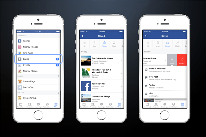 How to save links on Facebook