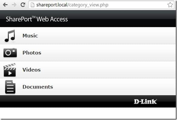 D-Link shareport web access