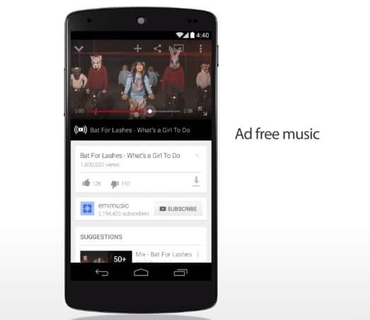 YouTube Music Key streaming