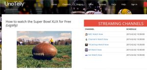 Watch the Super Bowl for free using UnoTelly free streaming service