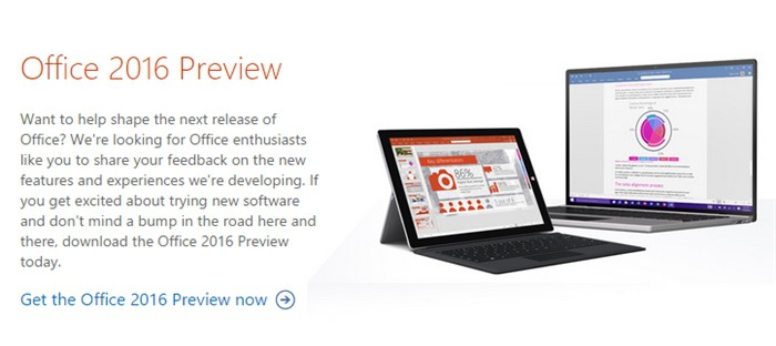Microsoft Office 2016 Public Preview
