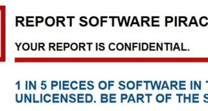 Software piracy report