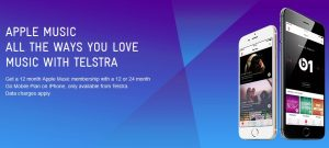 Free Apple Music offer from Telstra