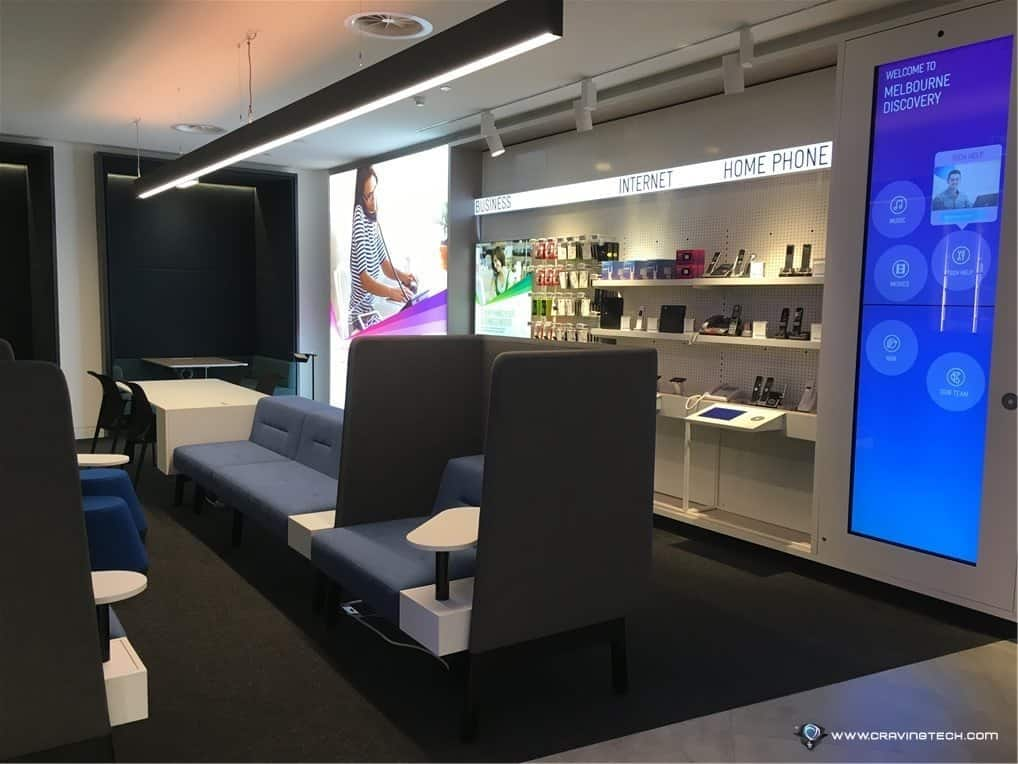 Telstra flagship store in Melbourne