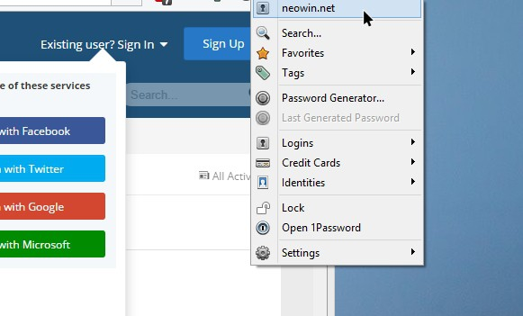 1Password Sign in