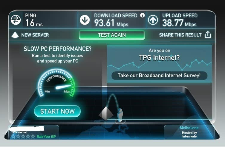 D-Link Taipan new firmware speedtest