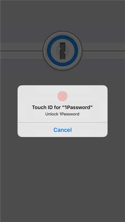 1Password iOS TouchID