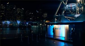 Intel's Eyes on the Harbour experience at Vivid Sydney