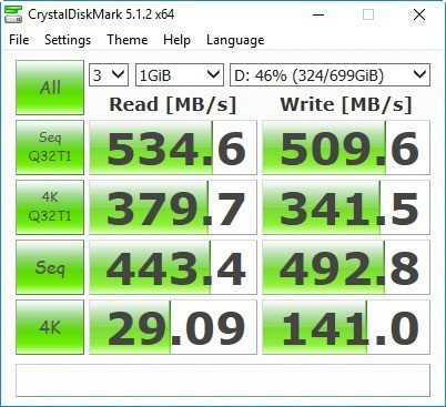 Crucial 750GB MX300 CrystalDiskMark [Random]