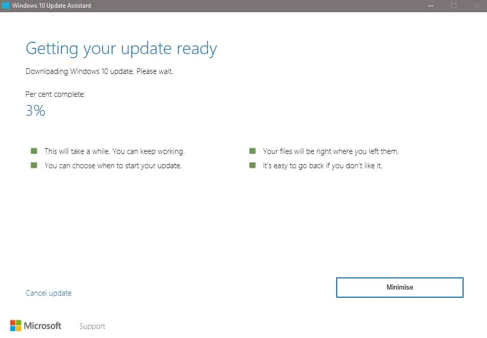 Windows 10 update wait