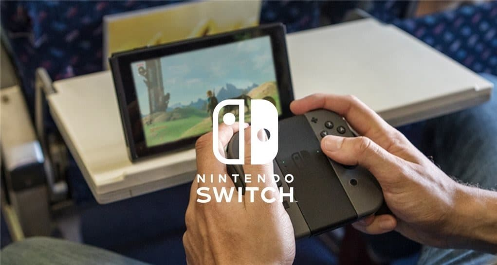 Nintendo Switch on the plane