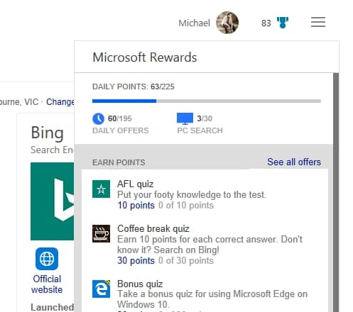 Microsoft announces Microsoft Reward program - Earn & Redeem