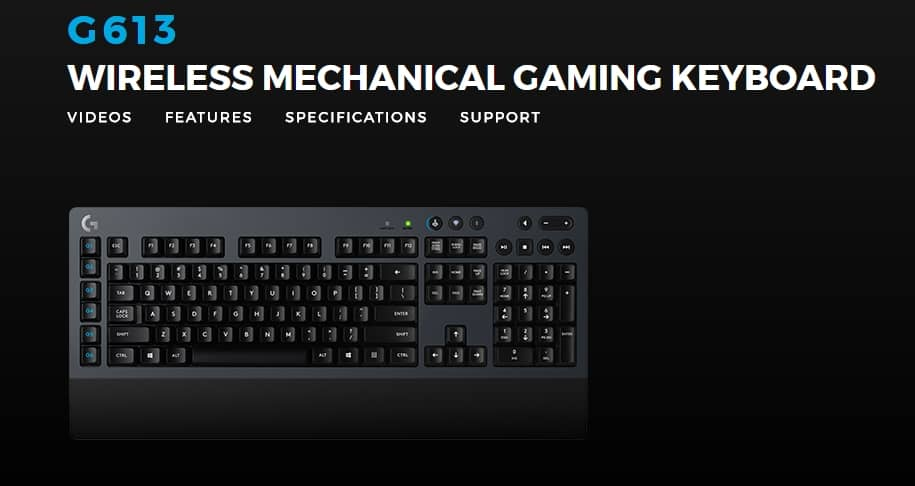Logitech G613 wireless mechanical gaming keyboard