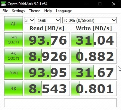 USB Type A 3_1 Gen 2 benchmark