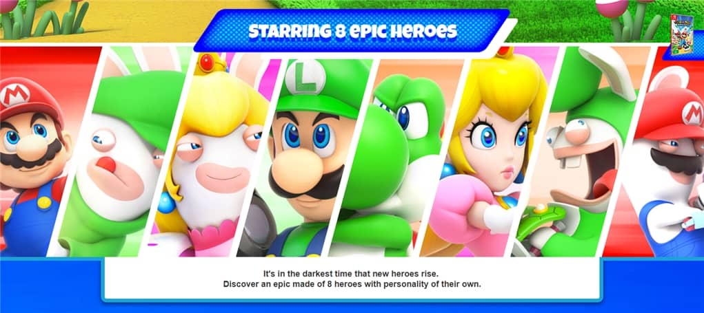 Mario Rabbid Kingdom Battle Heroes