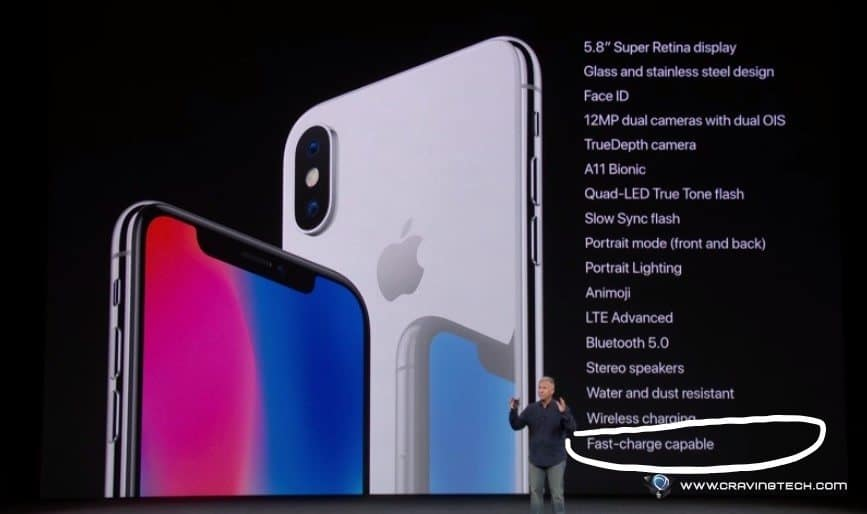 iPhone X fast charge