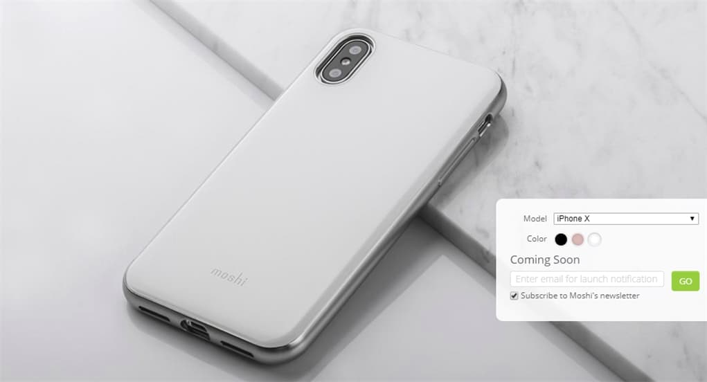Moshi iGlaze on iPhone X