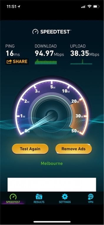 d-link cobra speed test
