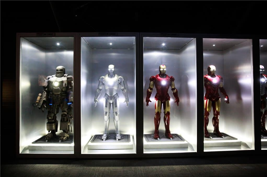 Iron Man suits display