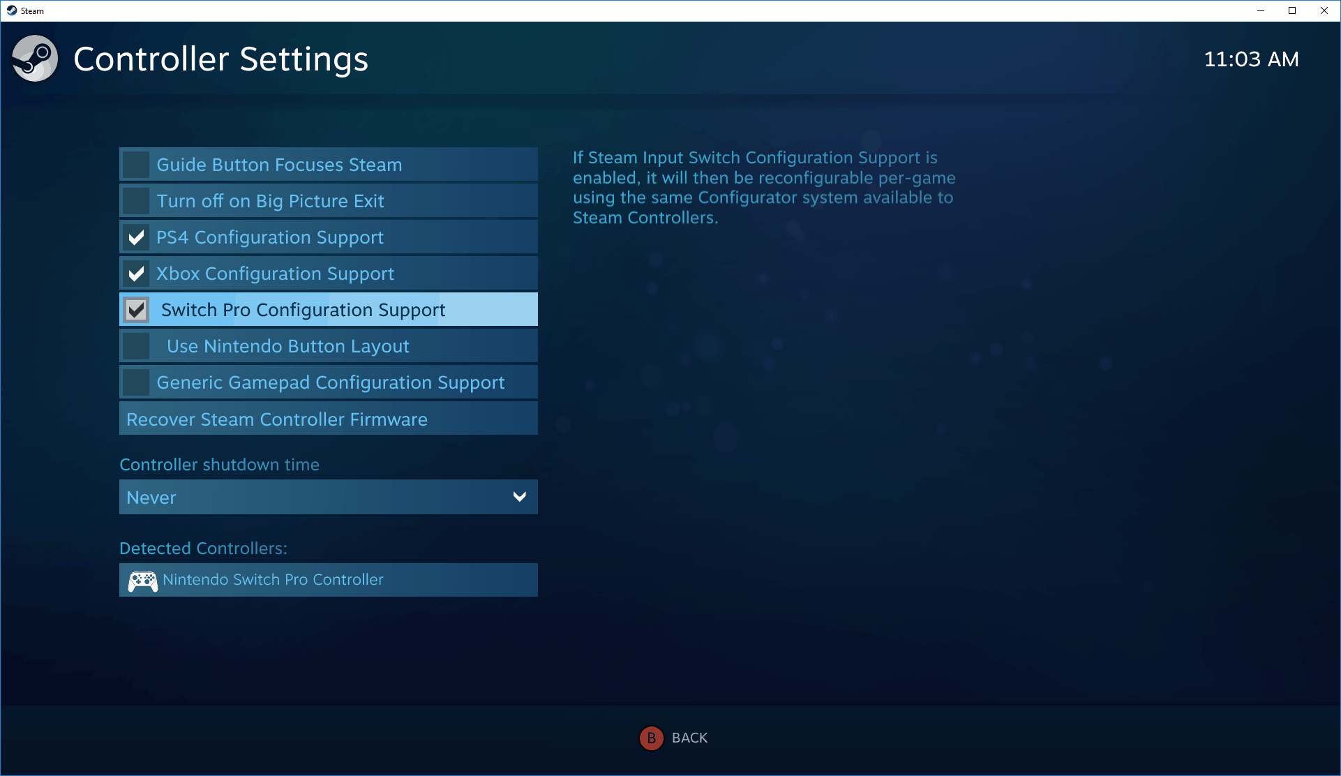 how to connect a switch pro controller to steam