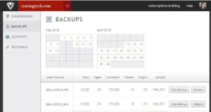 VaultPress Backup WordPress