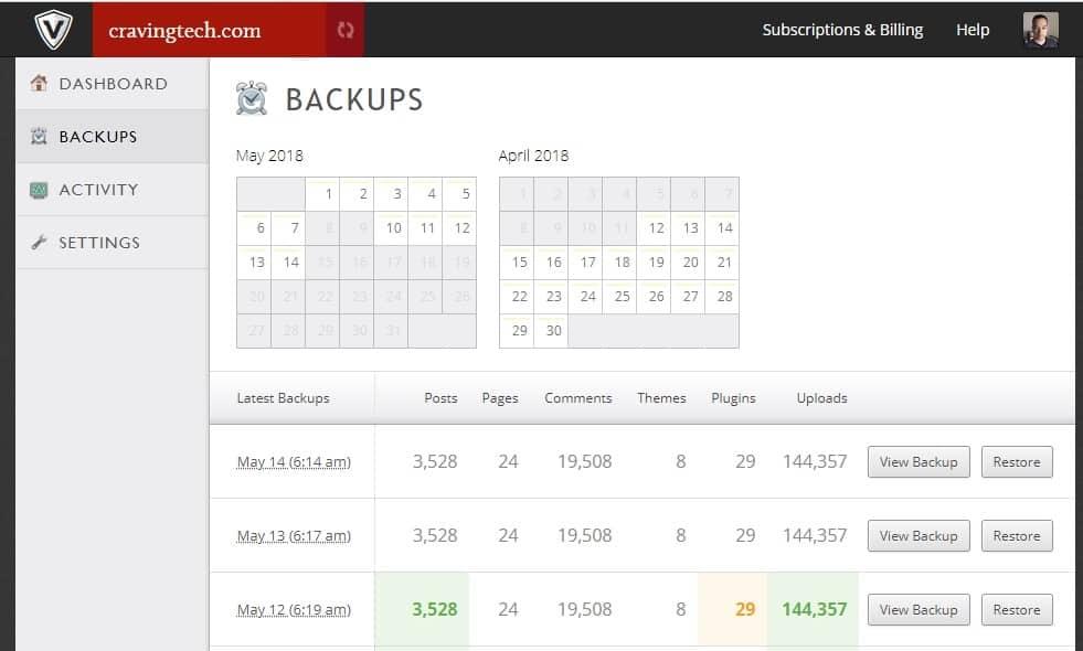 VaultPress Backup WordPress