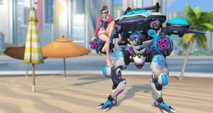Overwatch DVA bare foot skin summer 2018