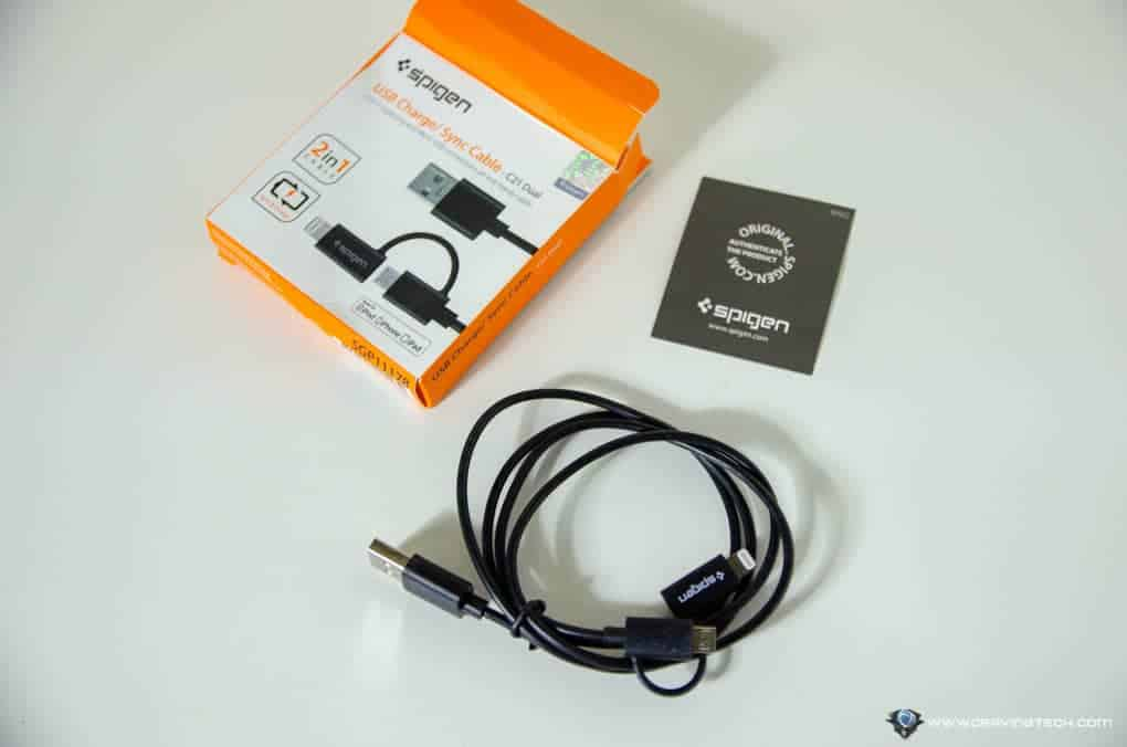 Spigen 2-in-1 charging cable