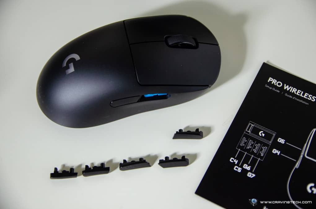 Logitech G Pro Wireless Gaming Mouse Side buttons
