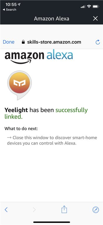 Yeelight Amazon Alexa
