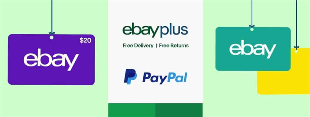 Get a $20 PayPal Gift Card for signing up to eBay Plus this month
