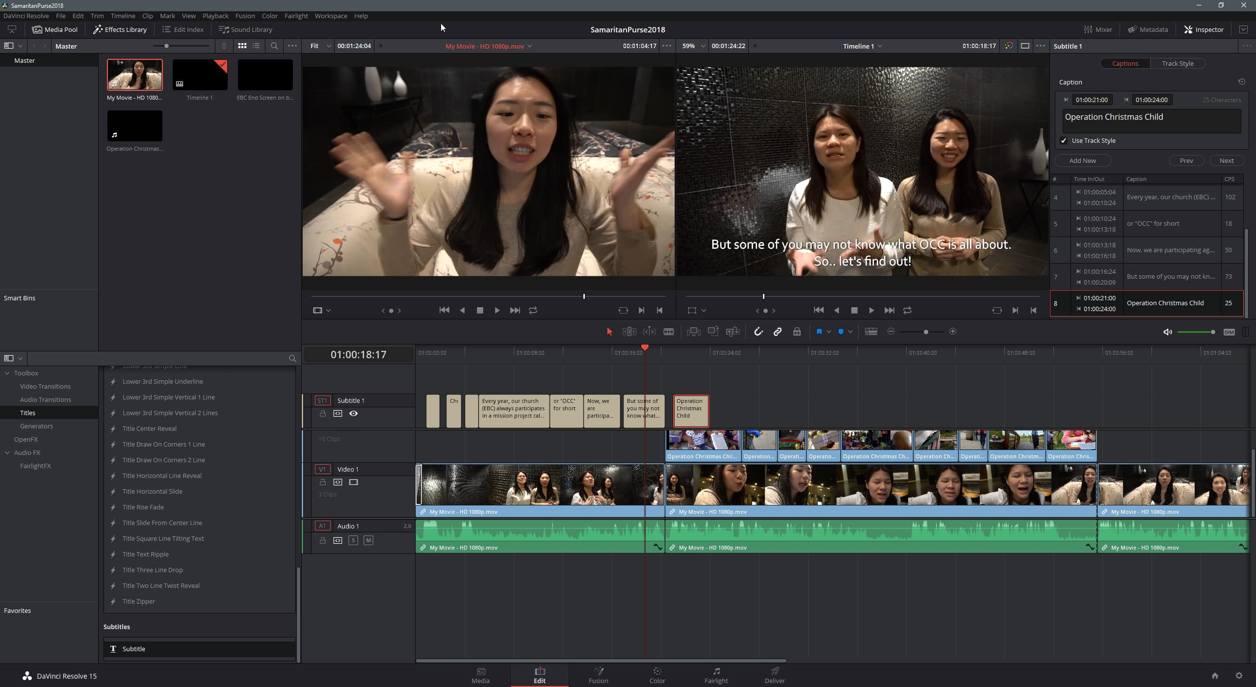 Davinci Resolve Subtitle