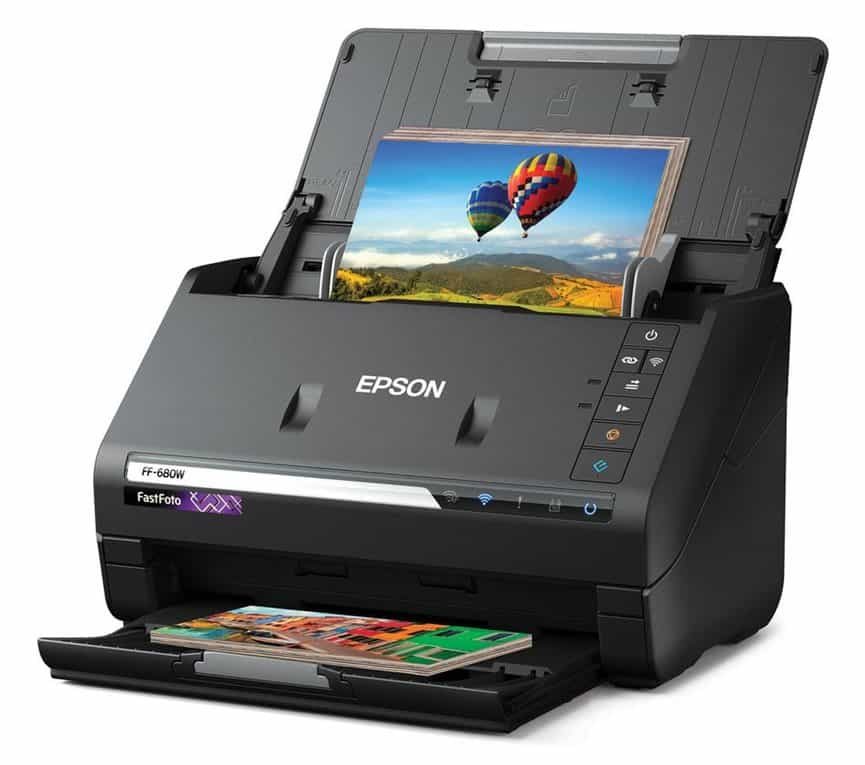 This Epson new photo scanner can scan 1 photo per second