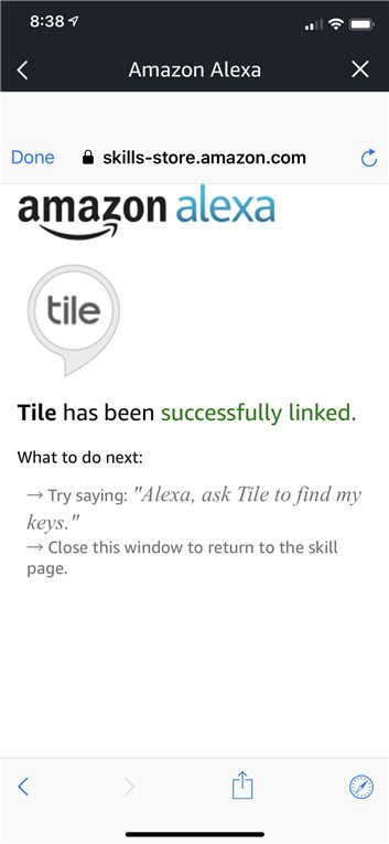 Tile and Alexa