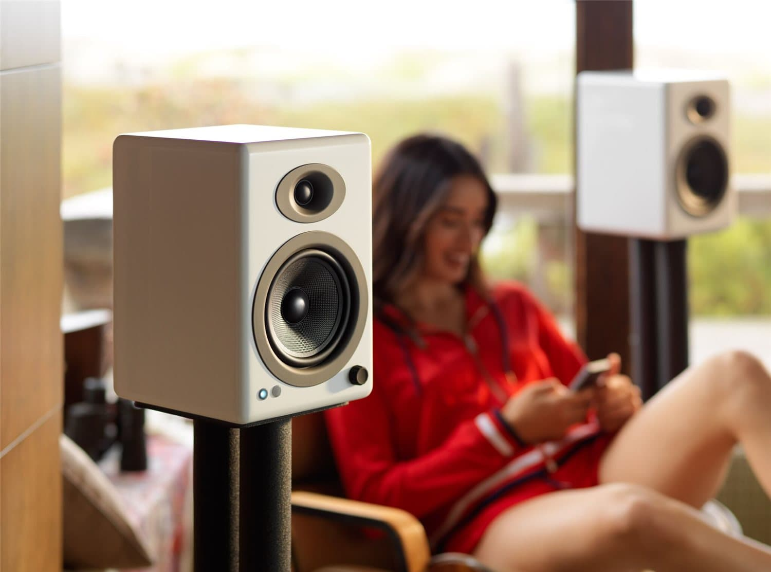 Audio Engine A5+ Wireless Bookshelf Speakers