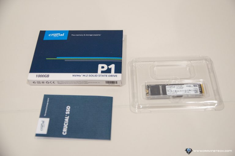 Crucial P1 NVMe SSD Packaging