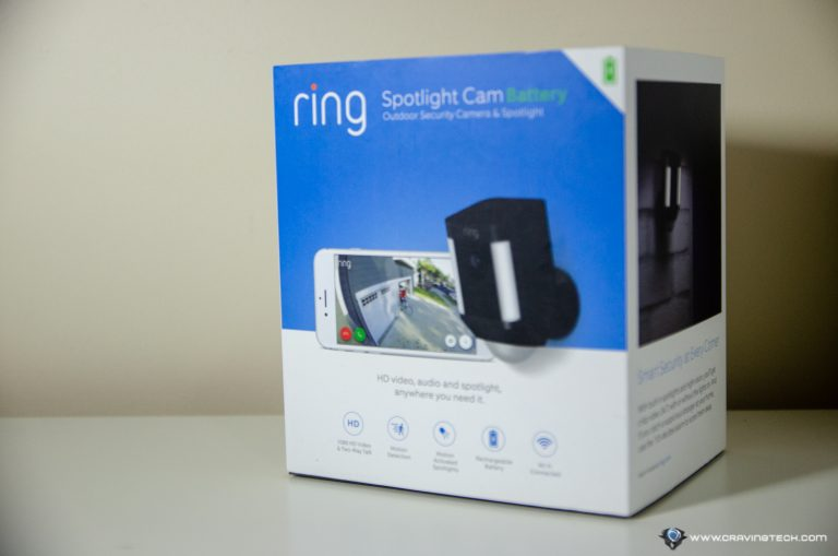Ring Spotlight Cam Battery Packaging