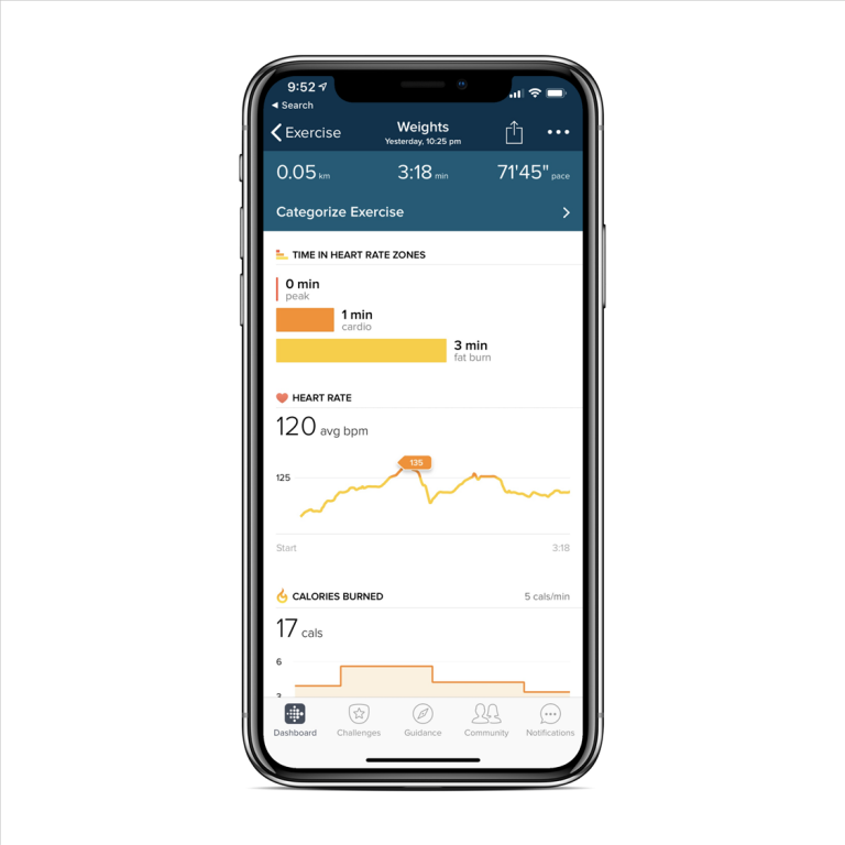 iPhone X - Fitbit Charge 3