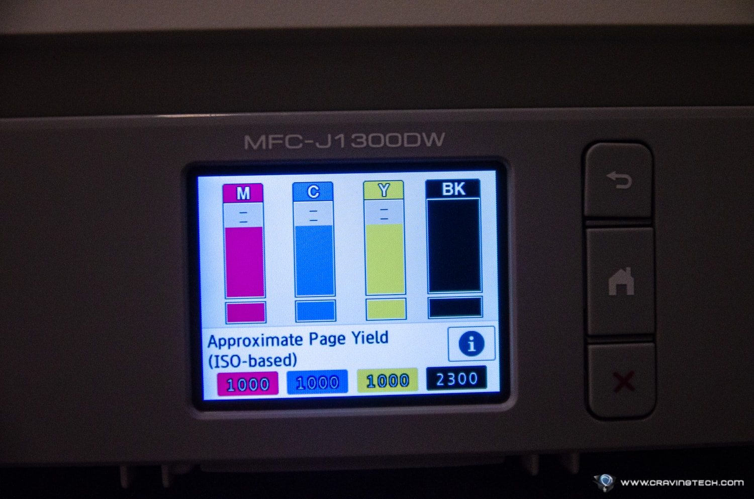 Brother MFC-J1300DW printer inks