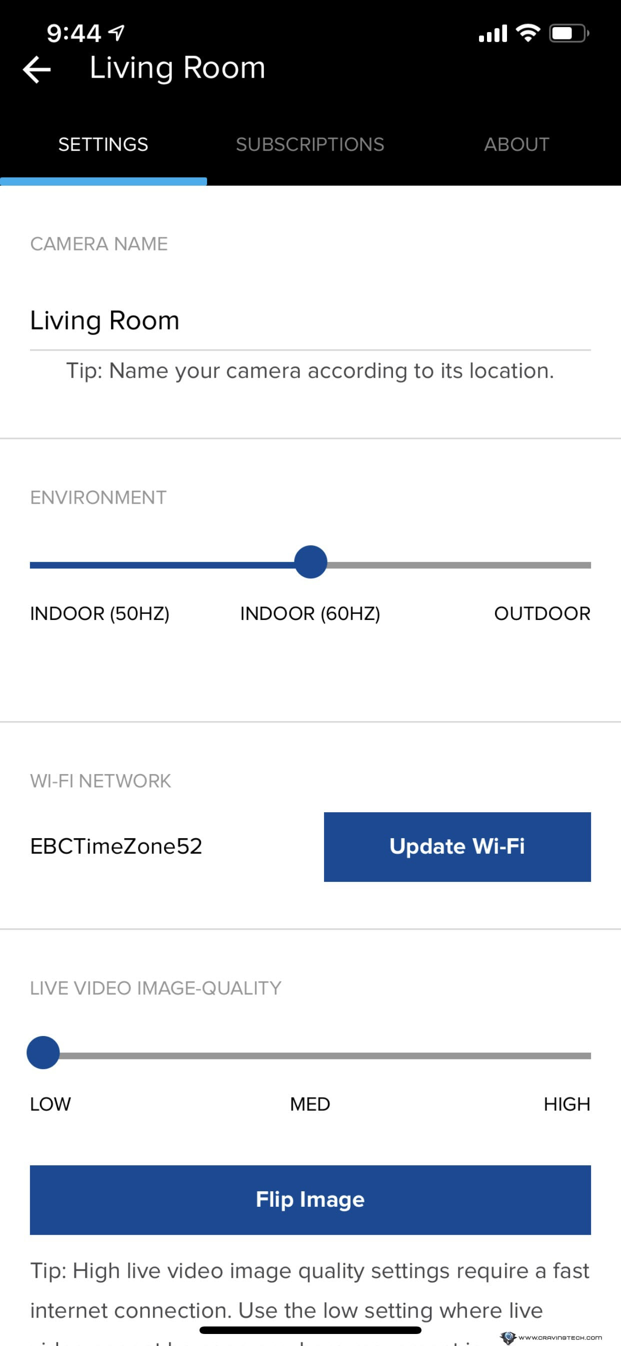 Swann Wi-Fi Indoor Security Camera settings