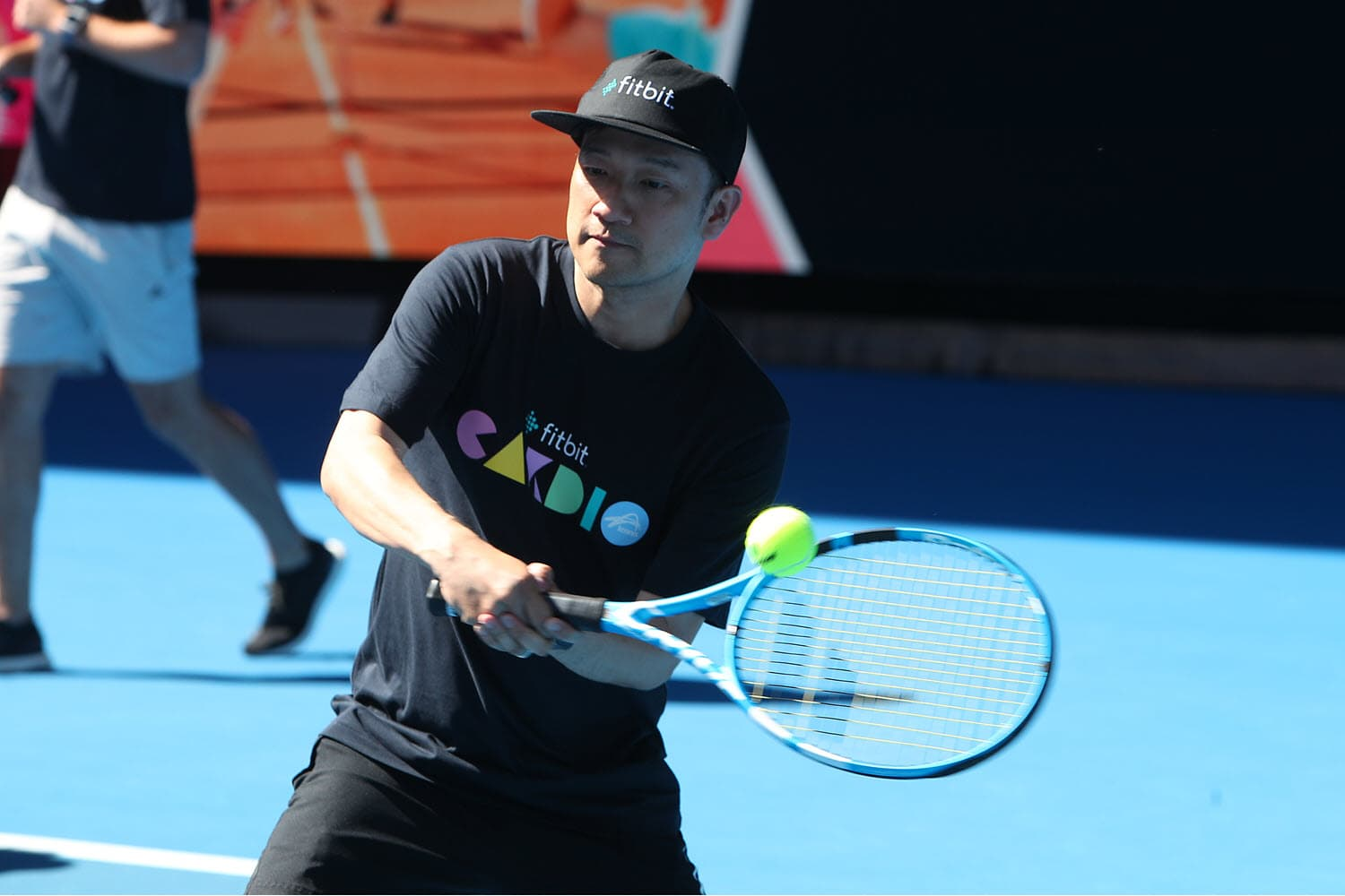 Michael at Australian Open 2019 with Fitbit Cardio Tennis