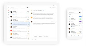 Gmail redesign with material design