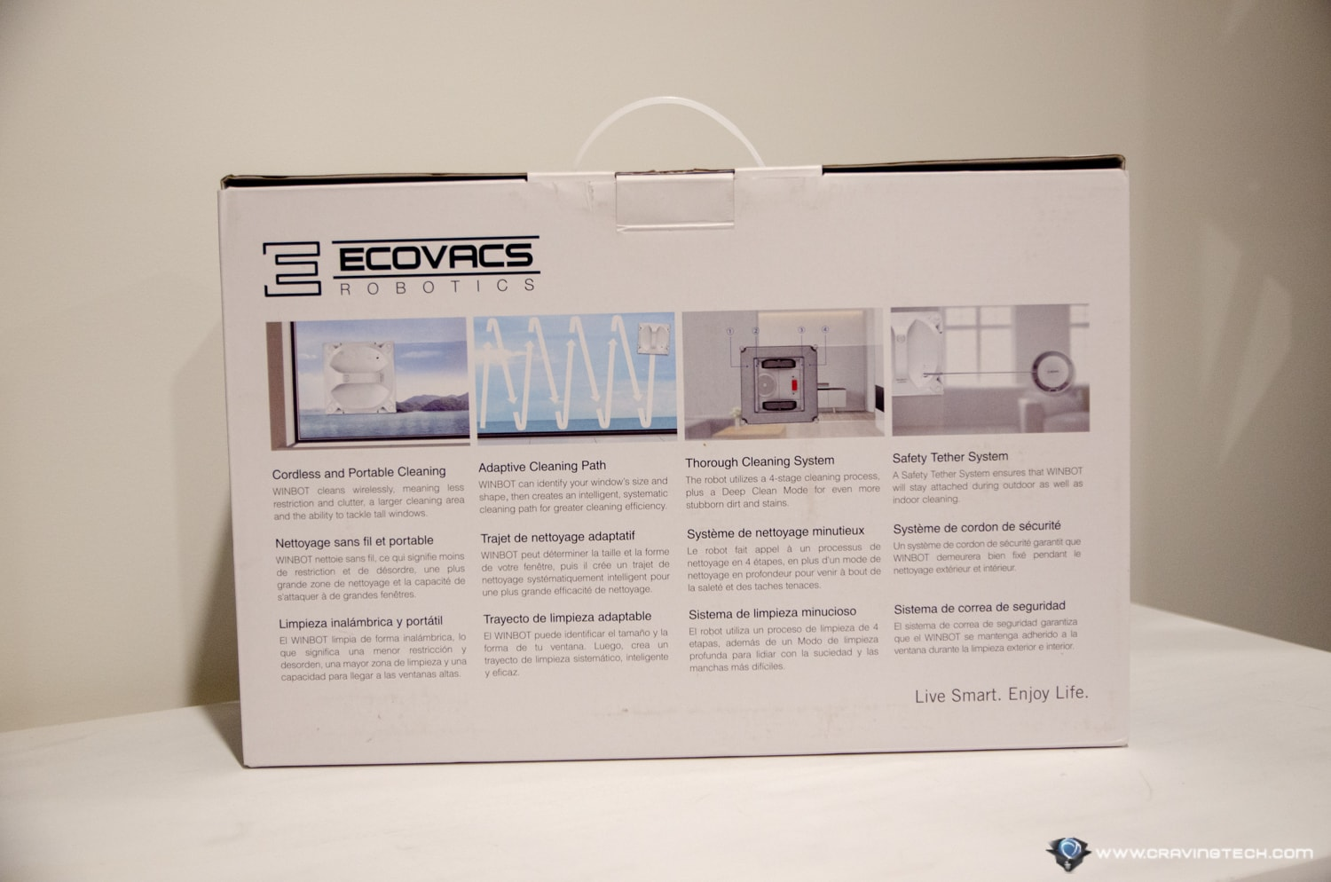 ECOVACS WINBOT X Review Packaging